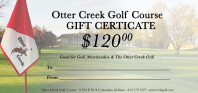 Otter Creek Golf Course Gift Certificates