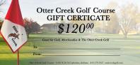 Otter Creek Golf Course Gift Certificates